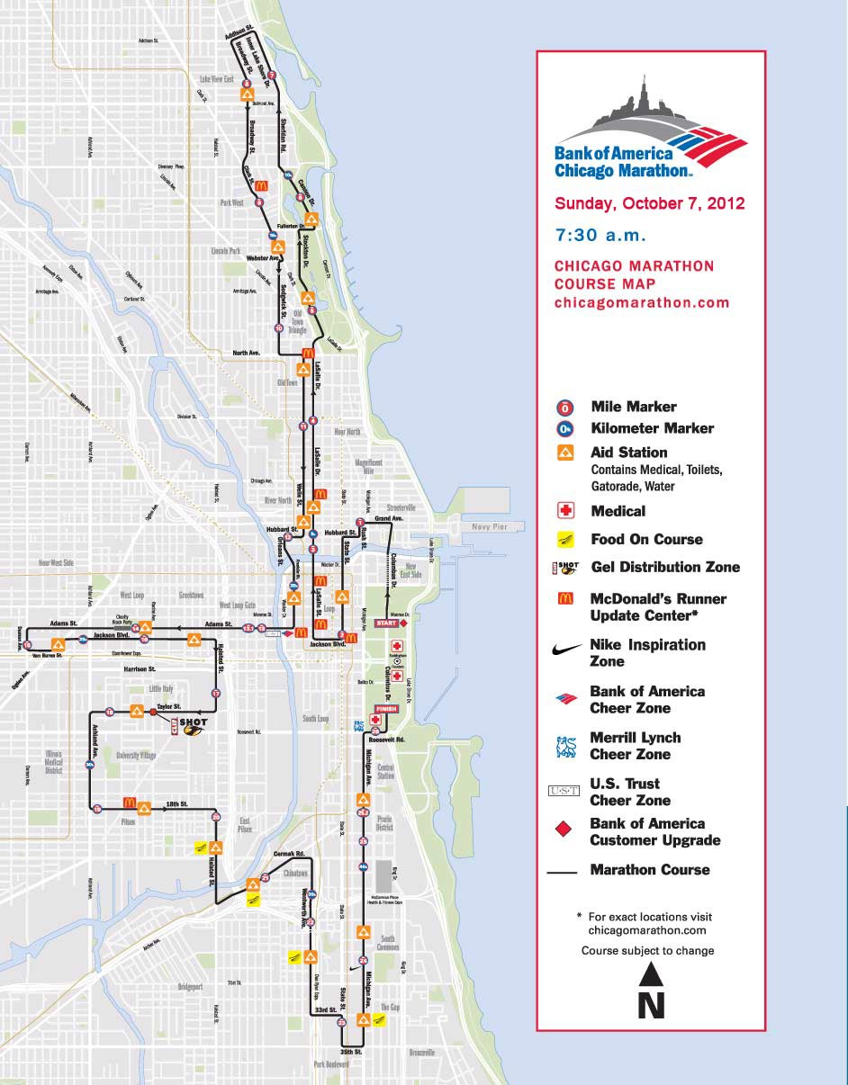 The Chicago Marathon The Course